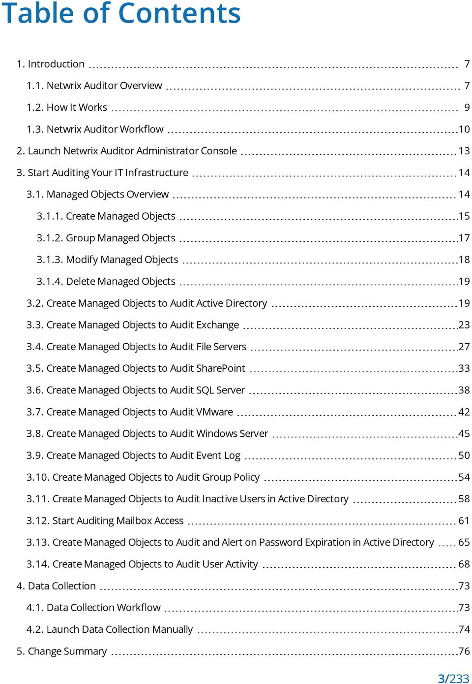 2. Create Managed Objects to Audit Active Directory 19 3.3. Create Managed Objects to Audit Exchange 23 3.4. Create Managed Objects to Audit File Servers 27 3.5.