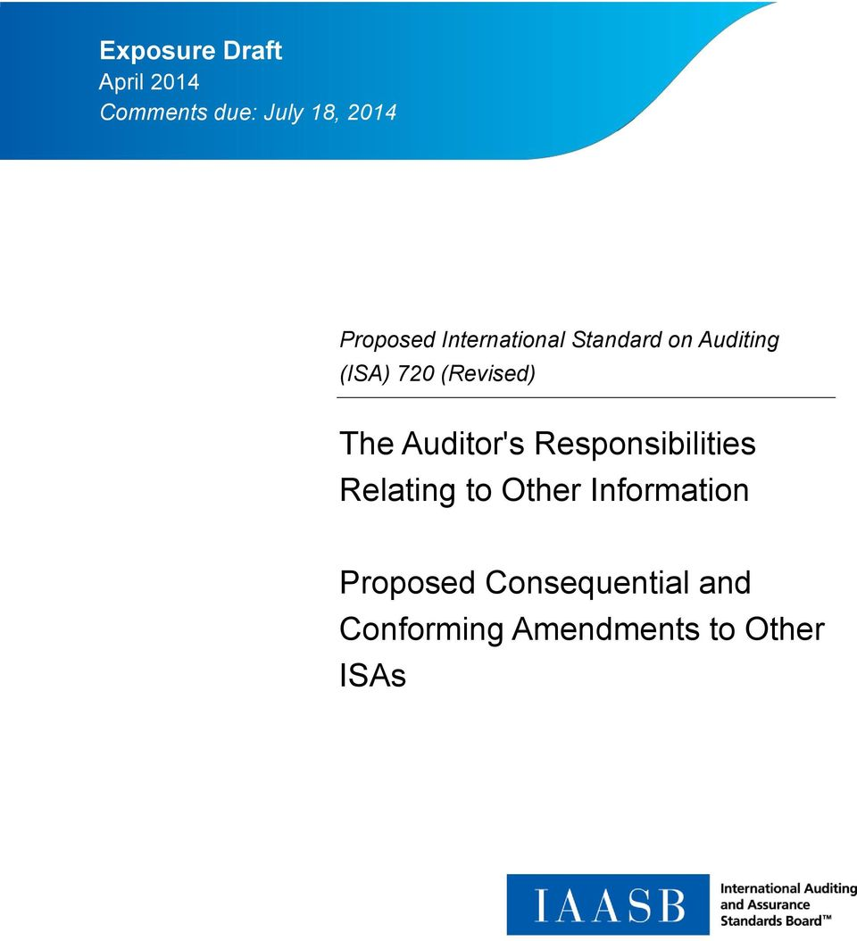 (Revised) The Auditor's Responsibilities Relating to Other
