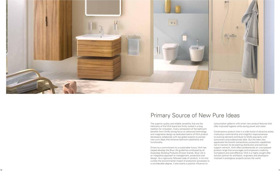 pioneer new pure ideas that enhance bathroom aesthetics and functionality.