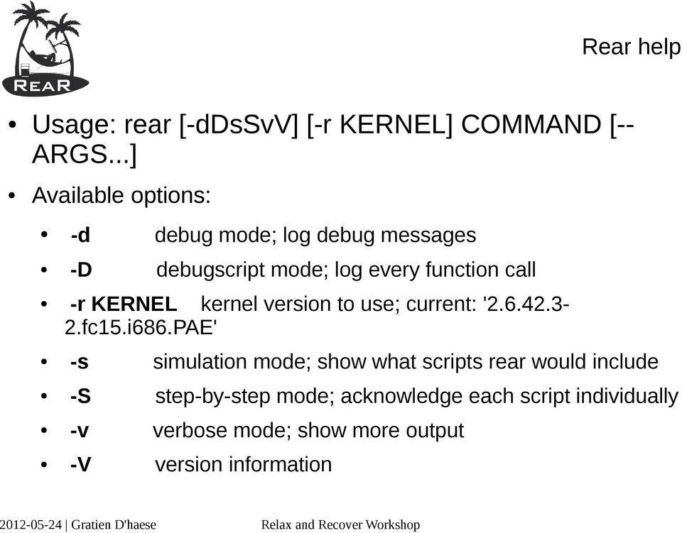 call -r KERNEL kernel version to use; current: '2.6.42.3-2.fc15.i686.