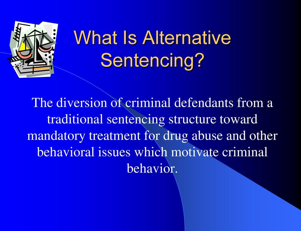 traditional sentencing structure toward mandatory