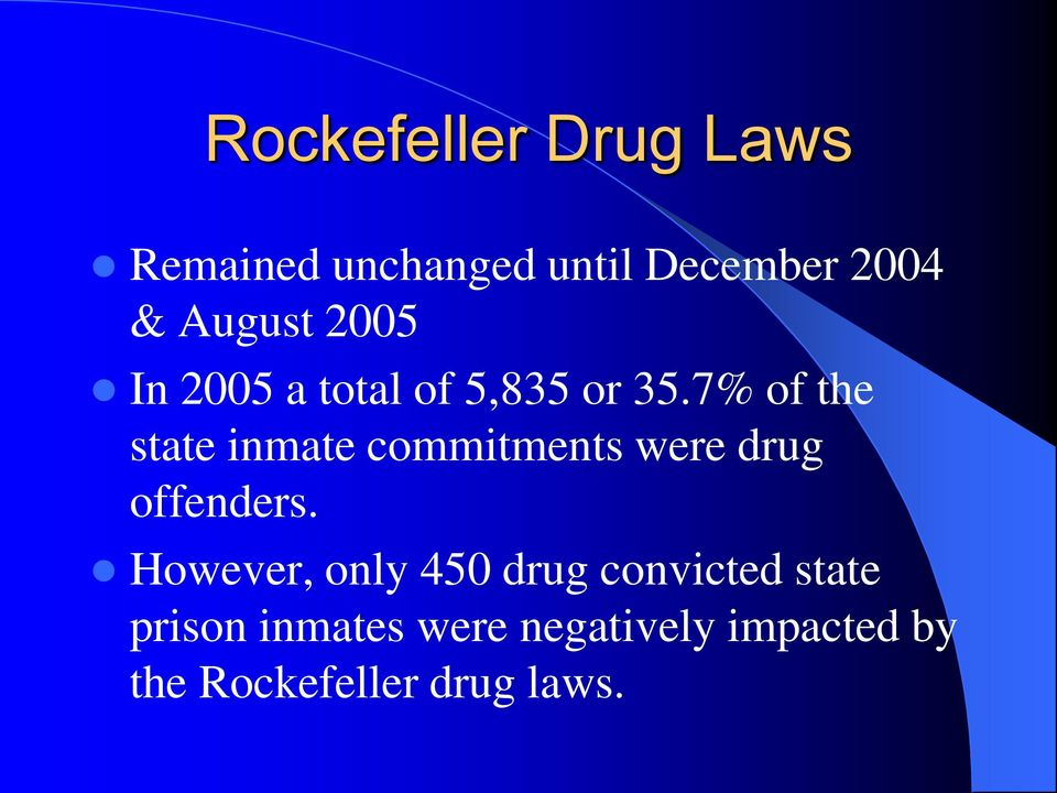 7% of the state inmate commitments were drug offenders.