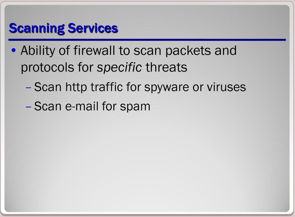 specific threats Scan http traffic