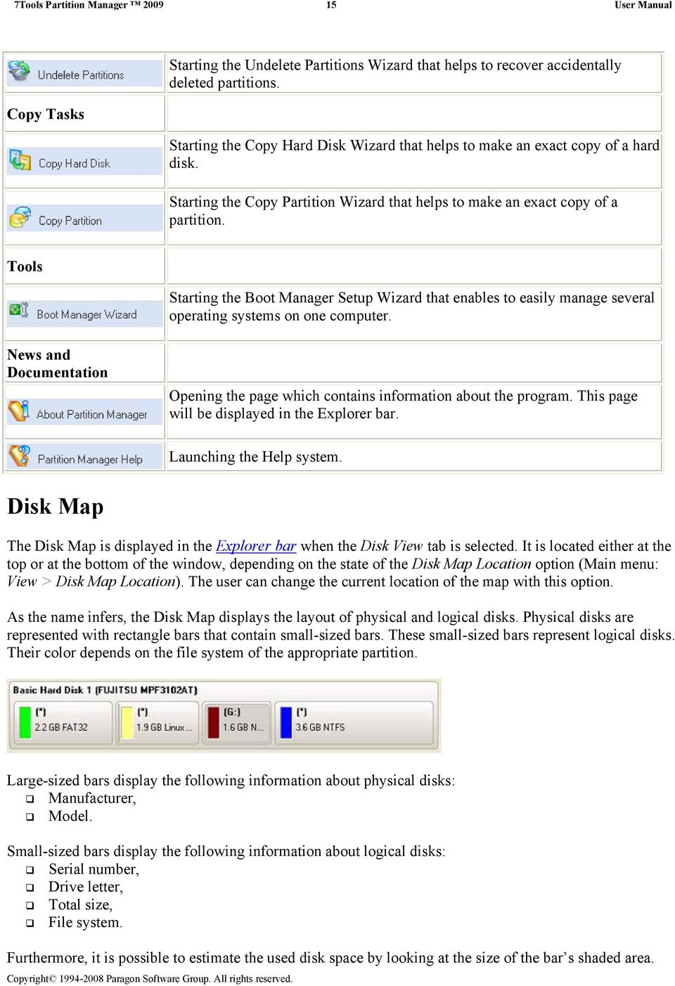Tools Starting the Boot Manager Setup Wizard that enables to easily manage several operating systems on one computer.