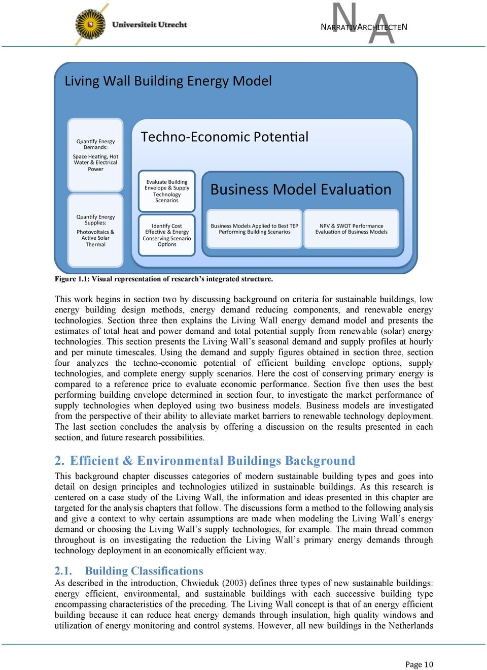 Building Scenarios NPV & SWOT Performance Evalua6on of Business Models Figure 1.1: Visual representation of research s integrated structure.