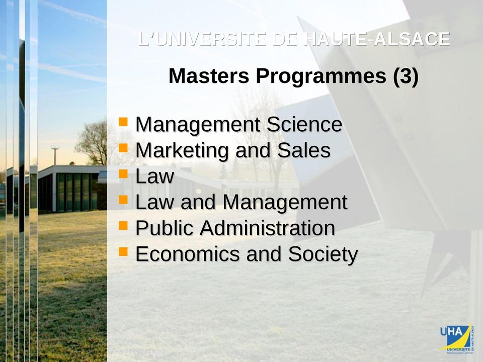 Enseignement Law and Management Public