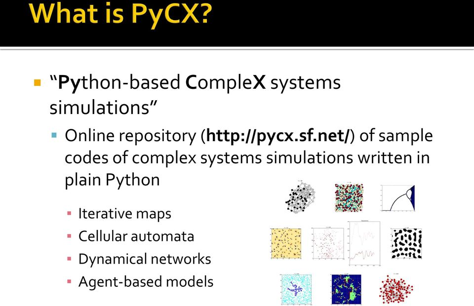 A Python-Based Simulation Code Repository for Complex Systems