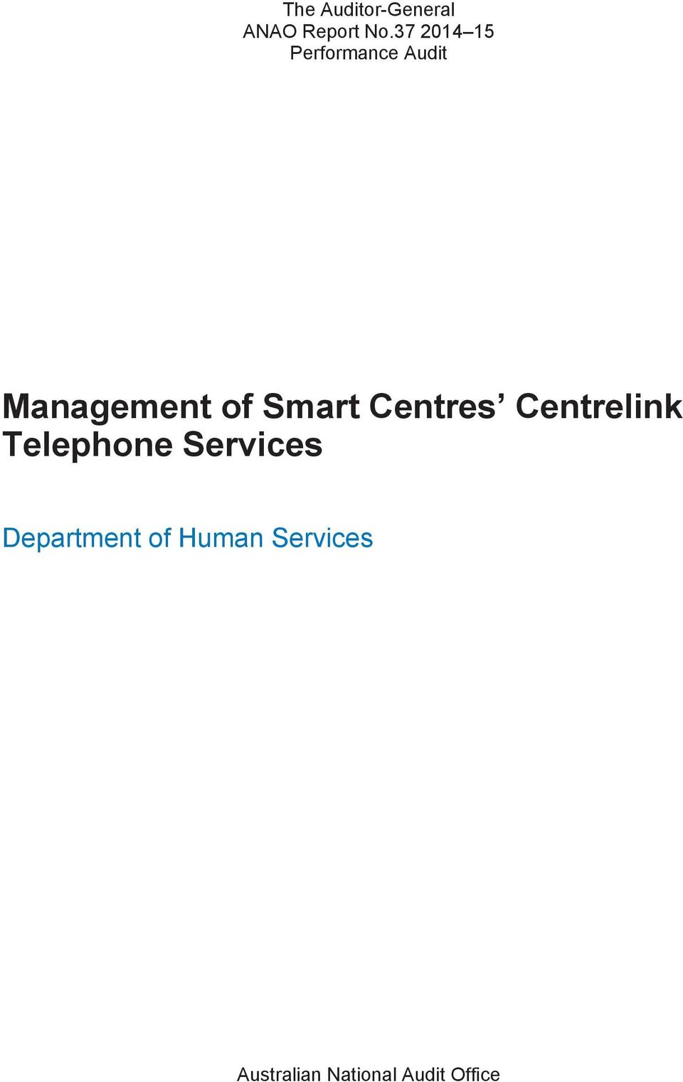 Telephone Services Department of Human