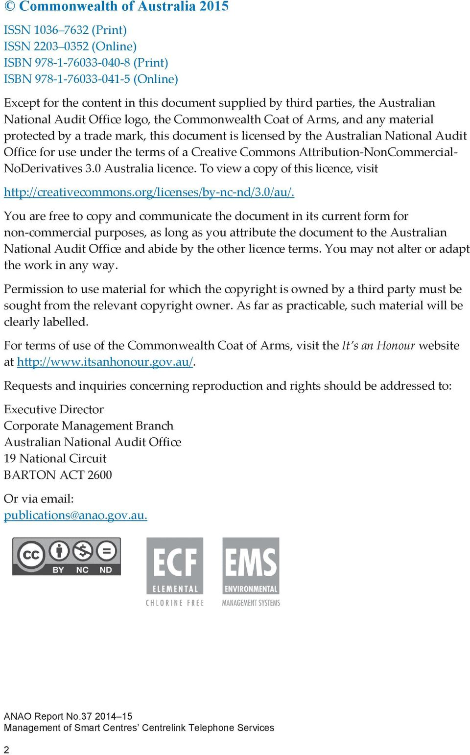 use under the terms of a Creative Commons Attribution NonCommercial NoDerivatives 3.0 Australia licence. To view a copy of this licence, visit http://creativecommons.org/licenses/by nc nd/3.0/au/.