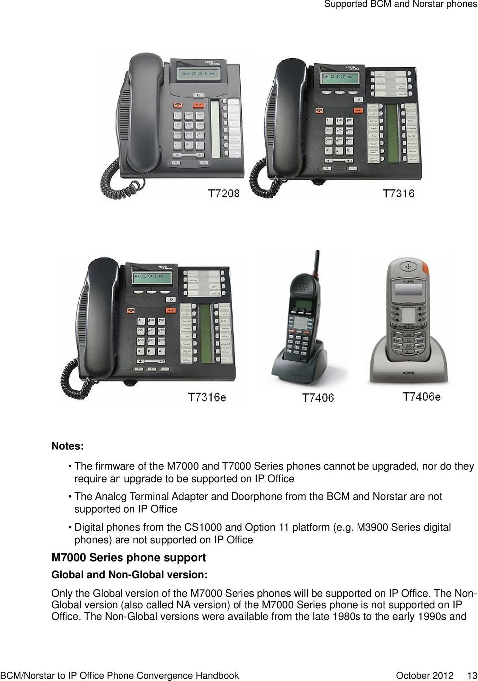 tal phones from the CS1000 and Option 11 platform (e.g.