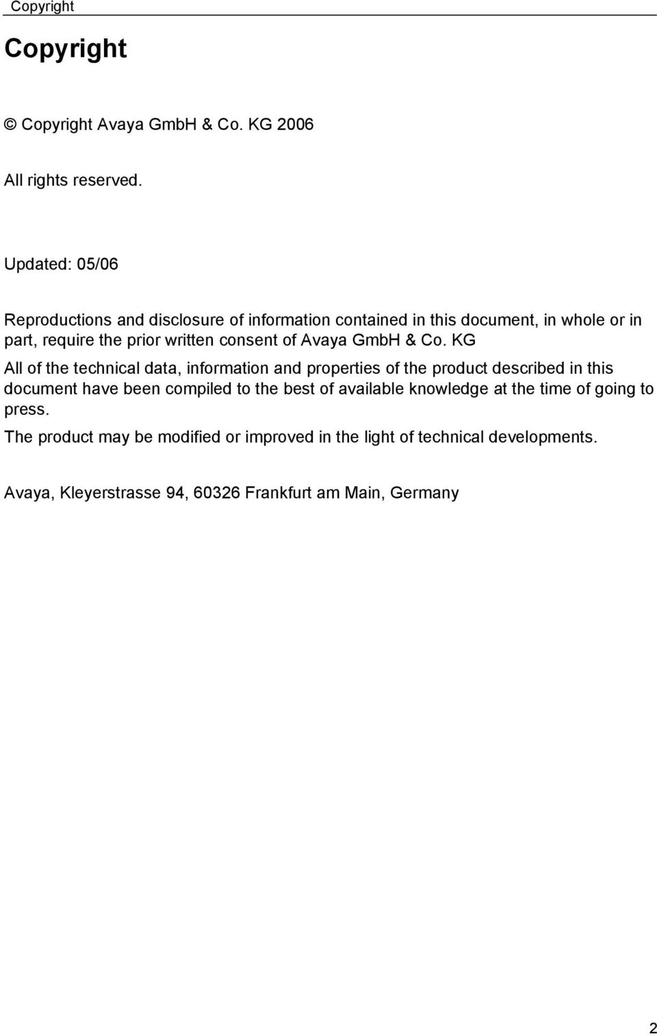 consent of Avaya GmbH & Co.