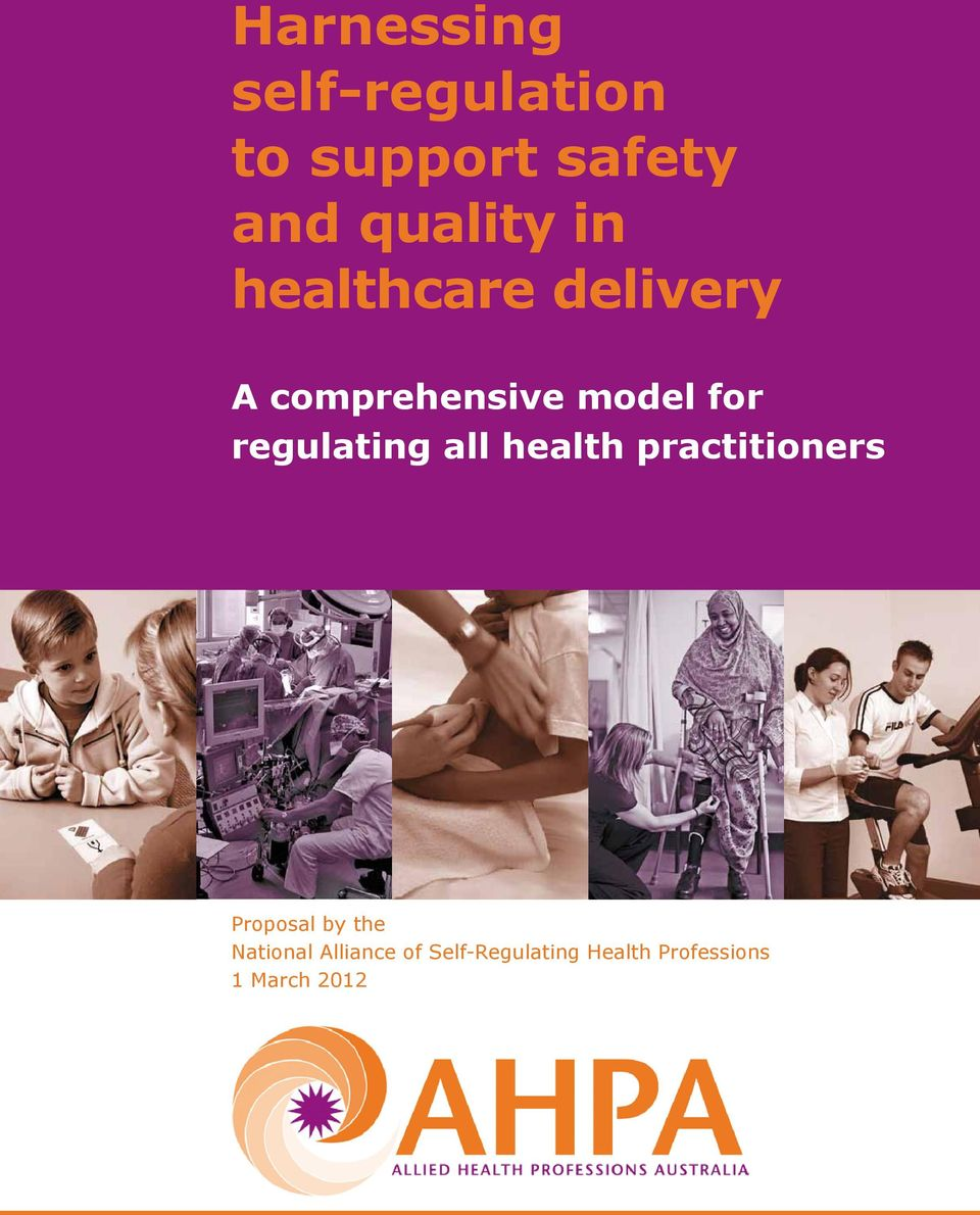regulating all health practitioners Proposal by the