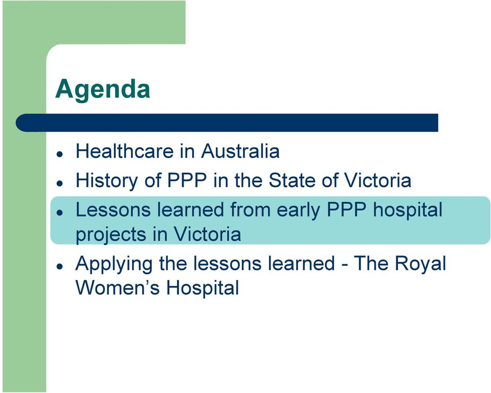 early PPP hospital projects in Victoria