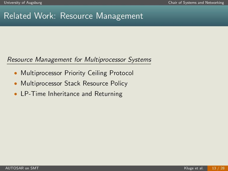 Ceiling Protocol Multiprocessor Stack Resource Policy