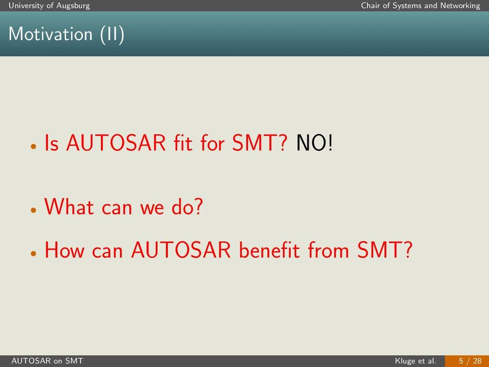 How can AUTOSAR benefit from
