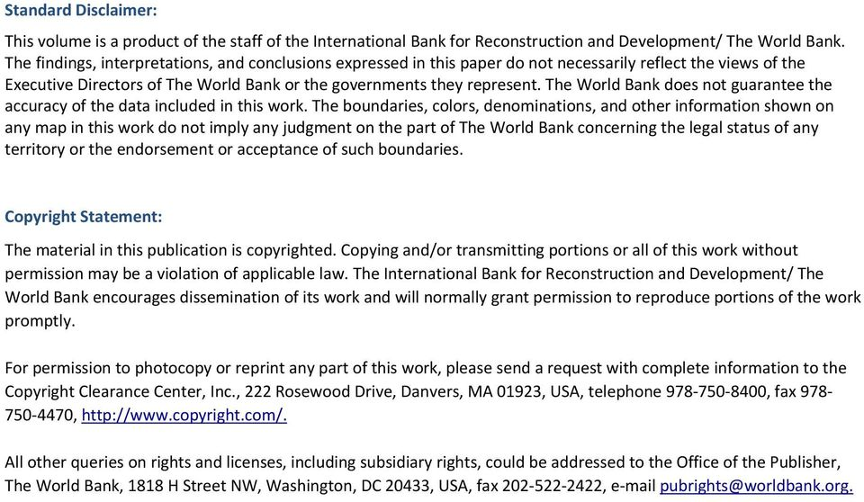 The World Bank does not guarantee the accuracy of the data included in this work.