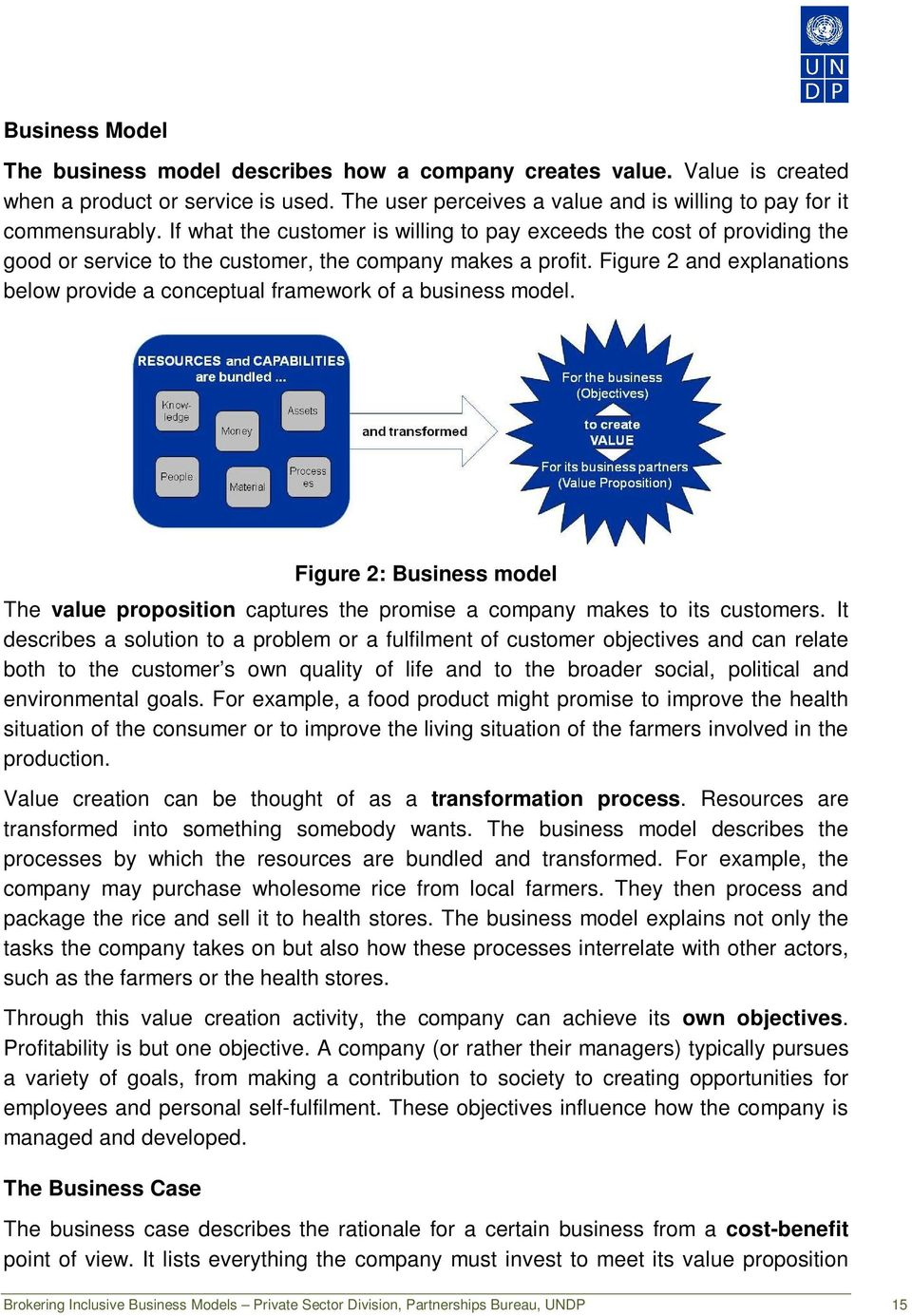 Figure 2 and explanations below provide a conceptual framework of a business model. Figure 2: Business model The value proposition captures the promise a company makes to its customers.