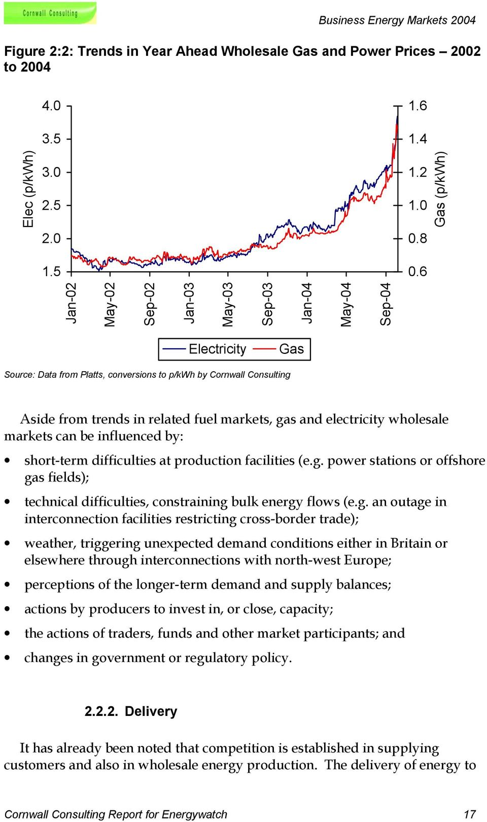 and electricity wholesale markets can be influenced by: short-term difficulties at production facilities (e.g.