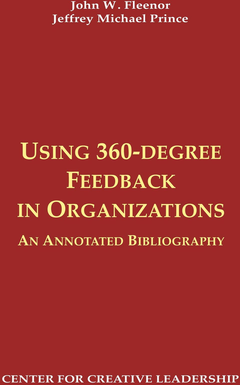 USING 360-DEGREE FEEDBACK IN