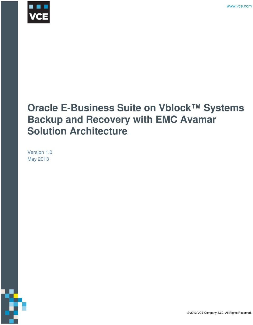 vce.com  with EMC Avamar Solution Architecture Version 1.