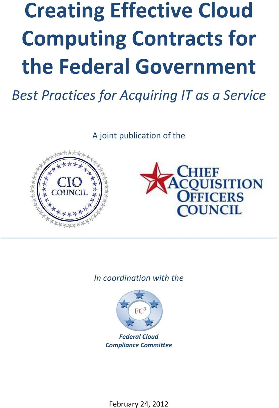 Service A joint publication of the In coordination with