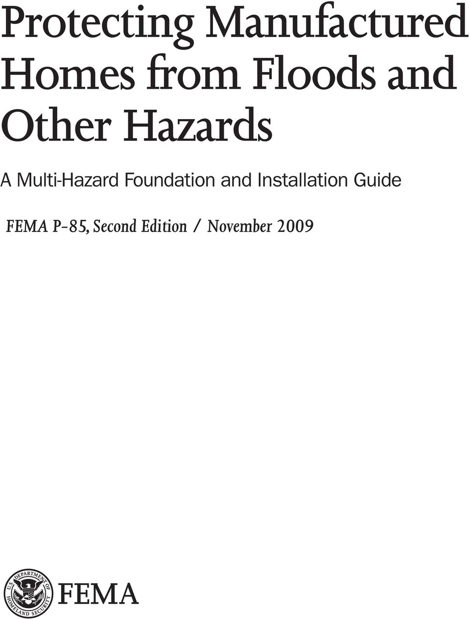 Other Hazards FEMA P-85,