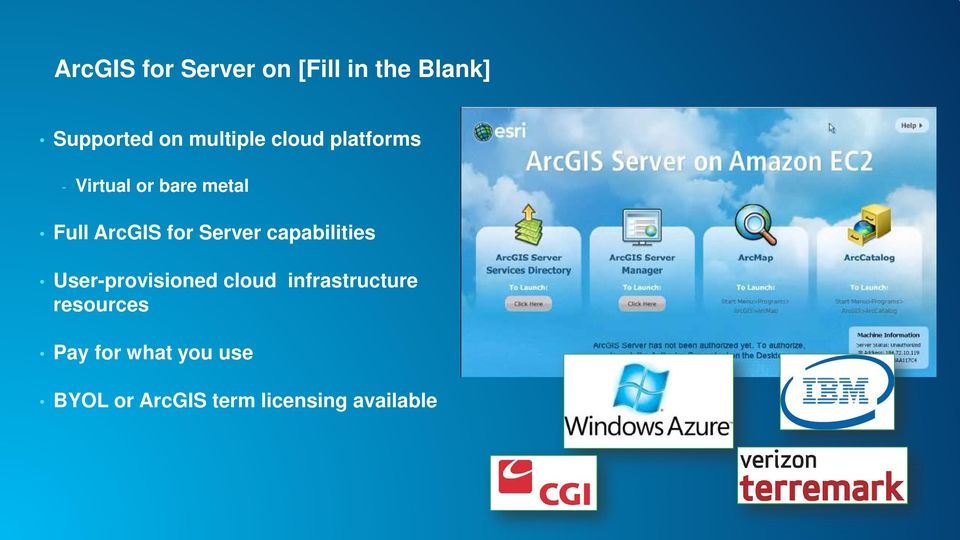 for Server capabilities User-provisioned cloud infrastructure