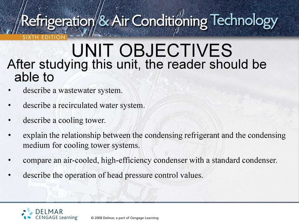 explain the relationship between the condensing refrigerant and the condensing medium for cooling