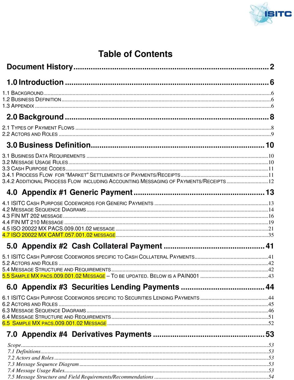 1 PROCESS FLOW FOR MARKET SETTLEMENTS OF PAYMENTS/RECEIPTS... 11 3.4.2 ADDITIONAL PROCESS FLOW INCLUDING ACCOUNTING MESSAGING OF PAYMENTS/RECEIPTS... 12 4.0 Appendix #1 Generic Payment... 13 4.