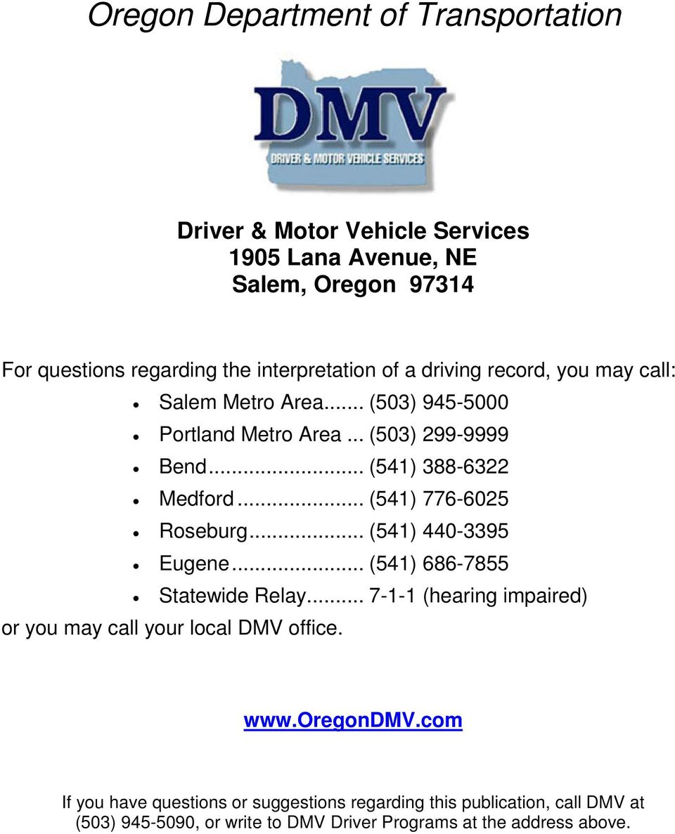 Oregon DMV Records | Lookup Oregon Driving & Vehicle ...