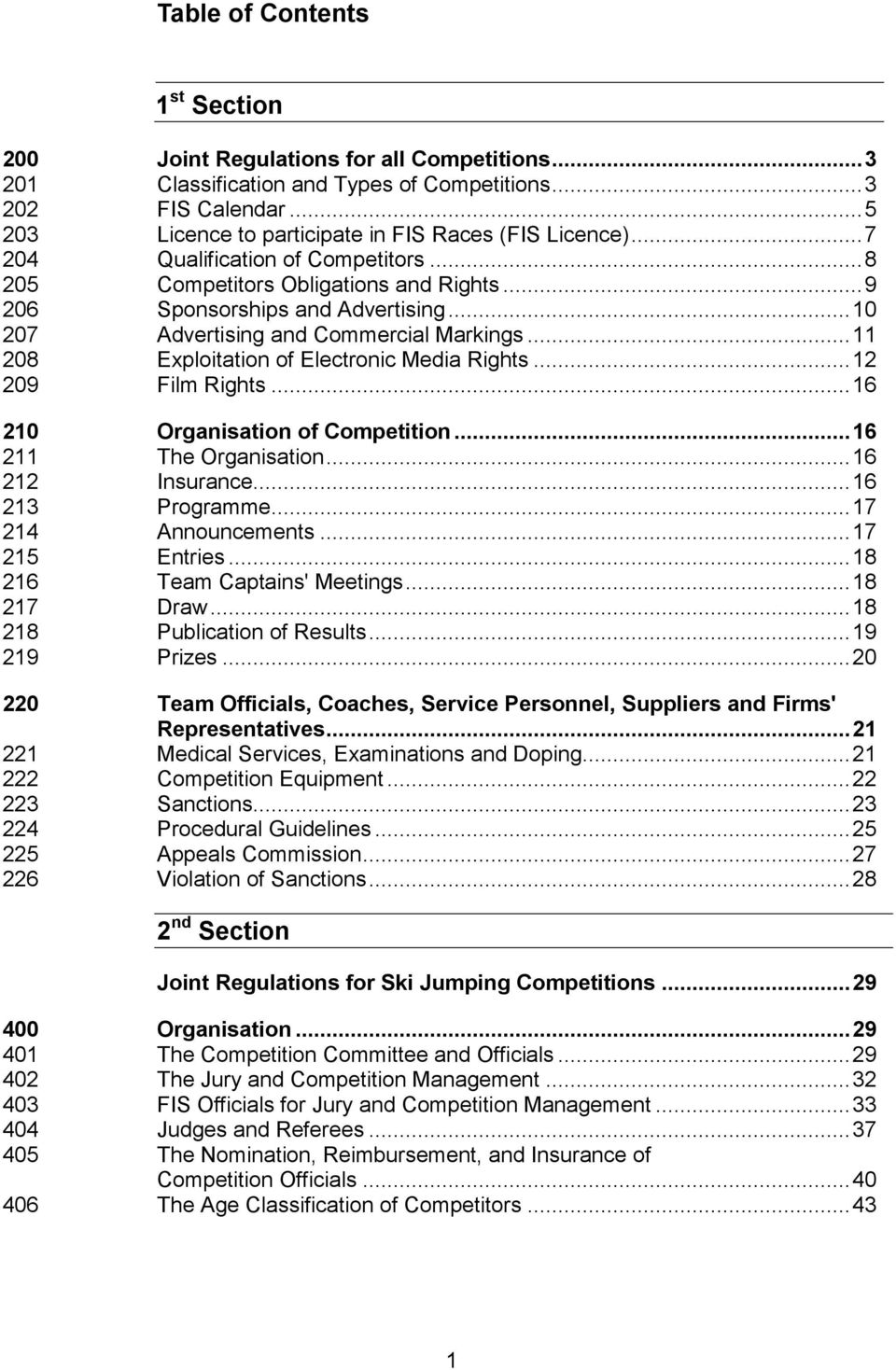 .. 10 207 Advertising and Commercial Markings... 11 208 Exploitation of Electronic Media Rights... 12 209 Film Rights... 16 210 Organisation of Competition... 16 211 The Organisation.