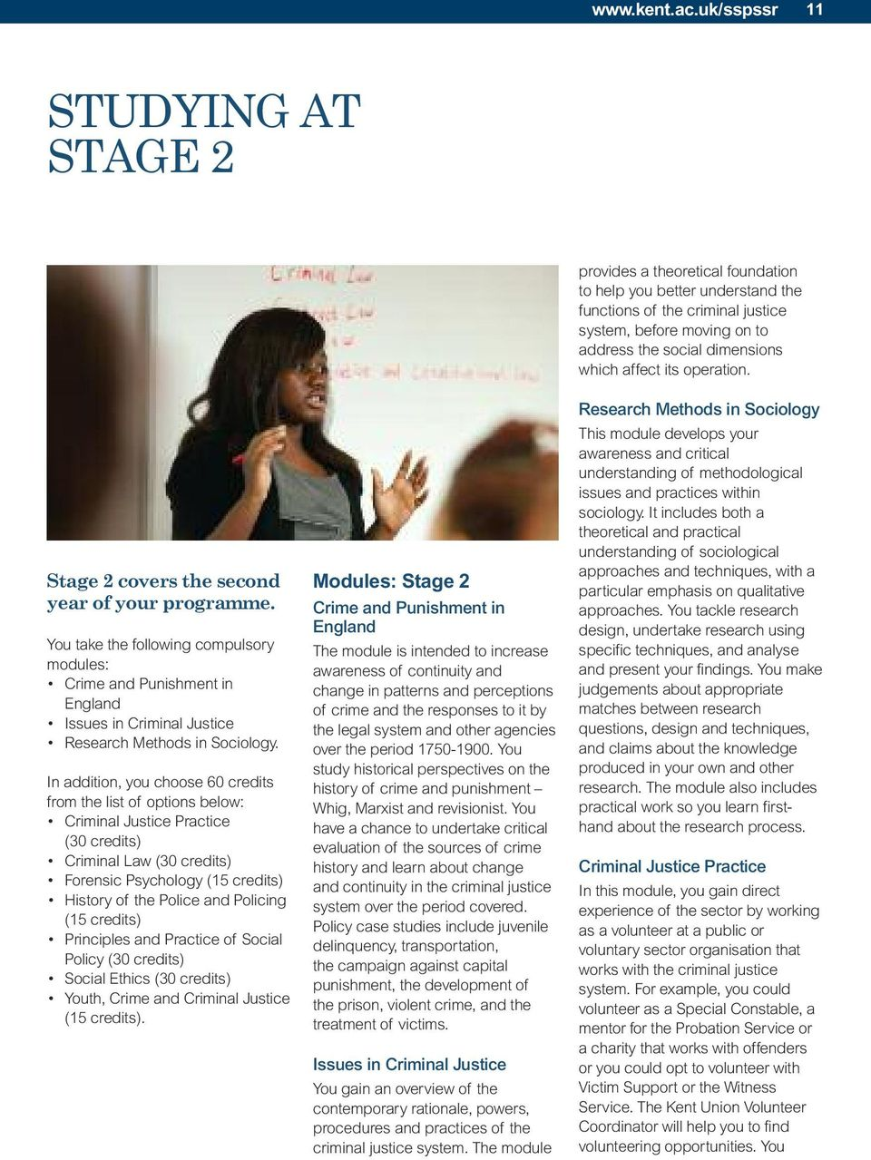 affect its operation. Stage 2 covers the second year of your programme.