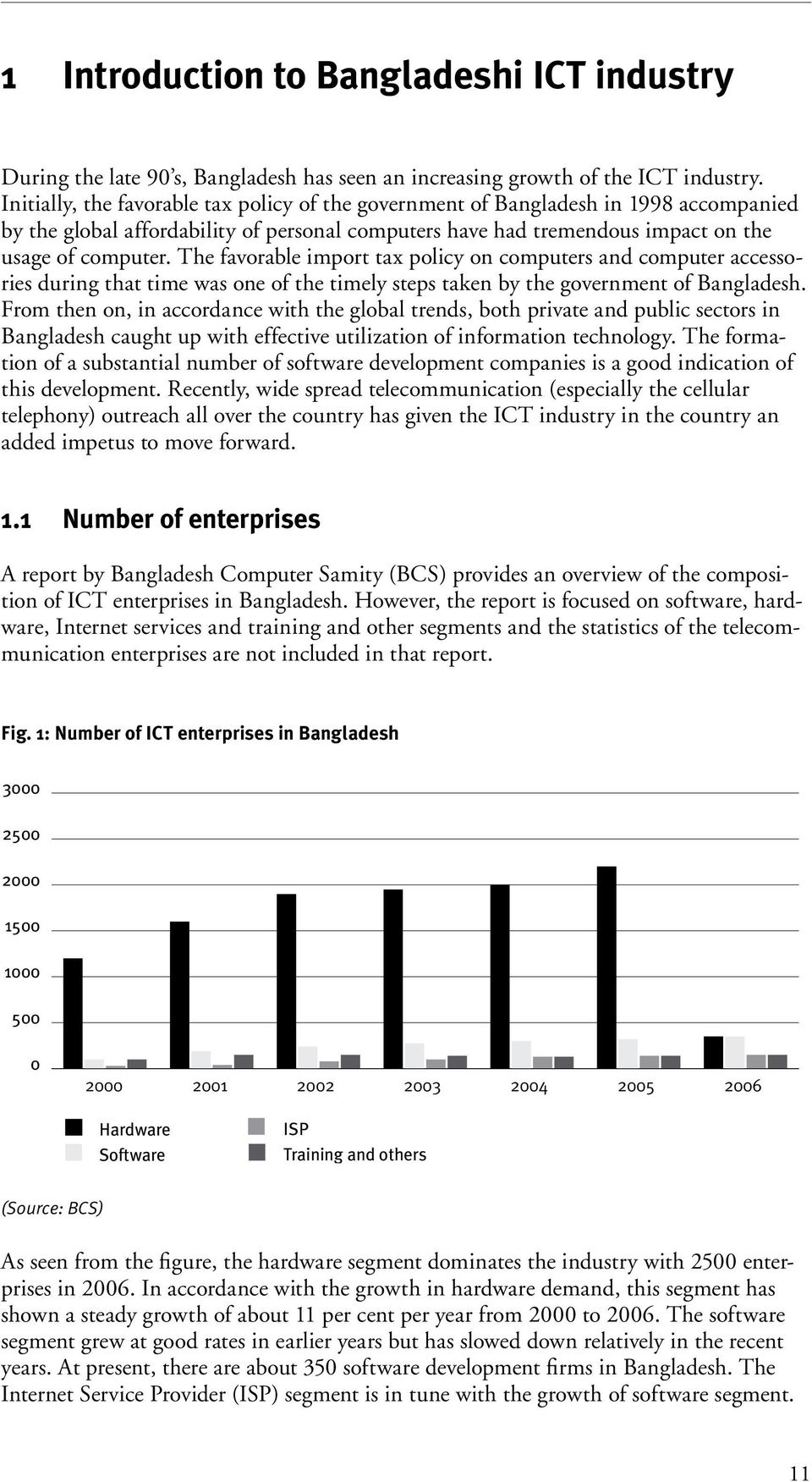 The favorable import tax policy on computers and computer accessories during that time was one of the timely steps taken by the government of Bangladesh.