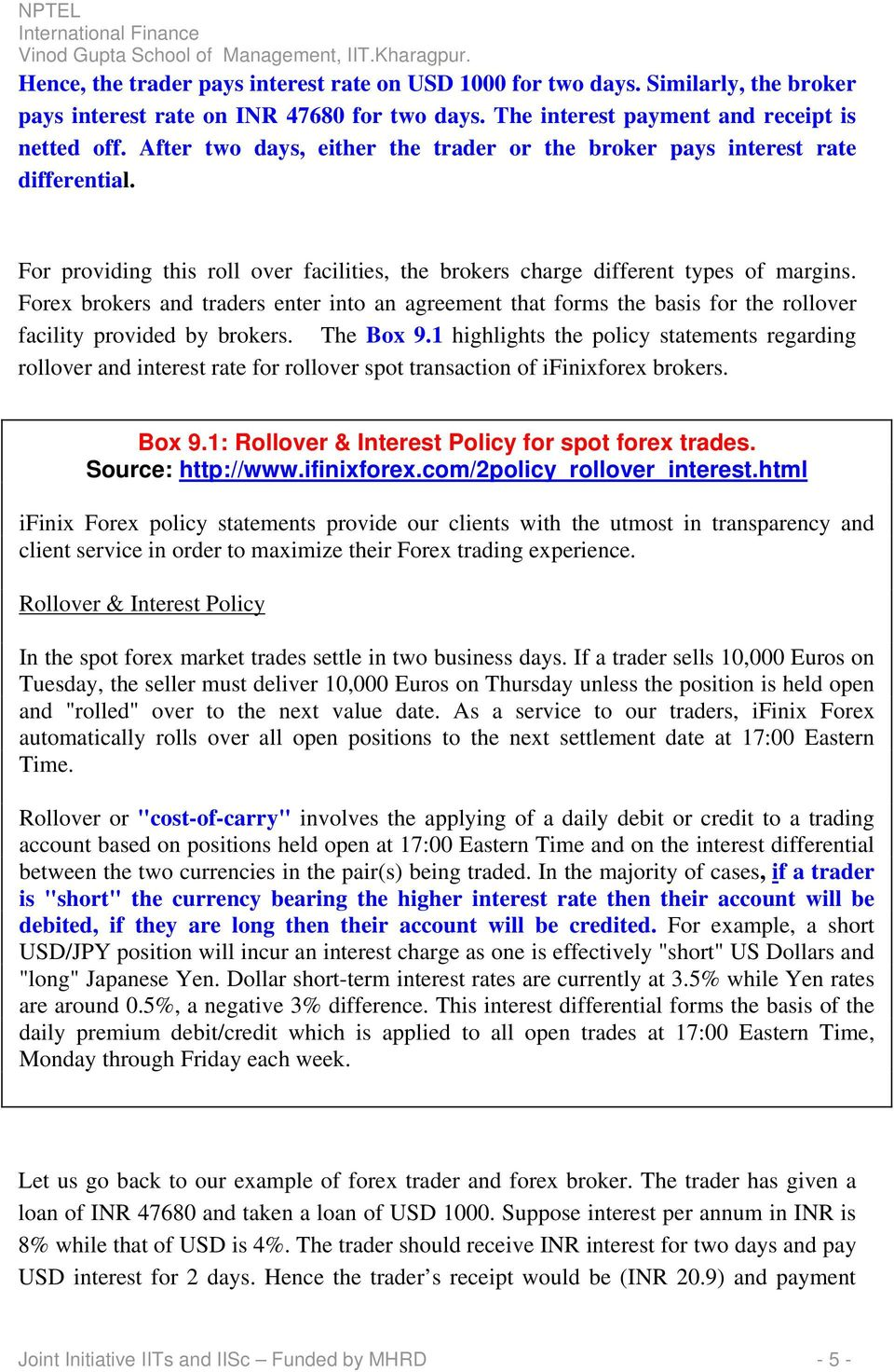 Module 9 Foreign Exchange Contracts Spot And Forward Contracts Pdf