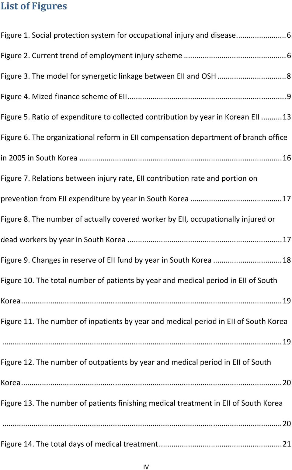 The organizational reform in EII compensation department of branch office in 2005 in South Korea... 16 Figure 7.