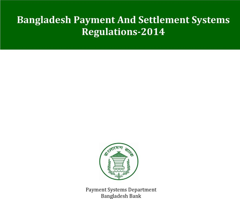 Regulations 2014 Payment