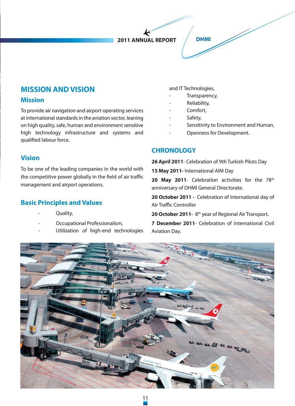 Vision To be one of the leading companies in the world with the competitive power globally in the field of air traffic management and airport operations.