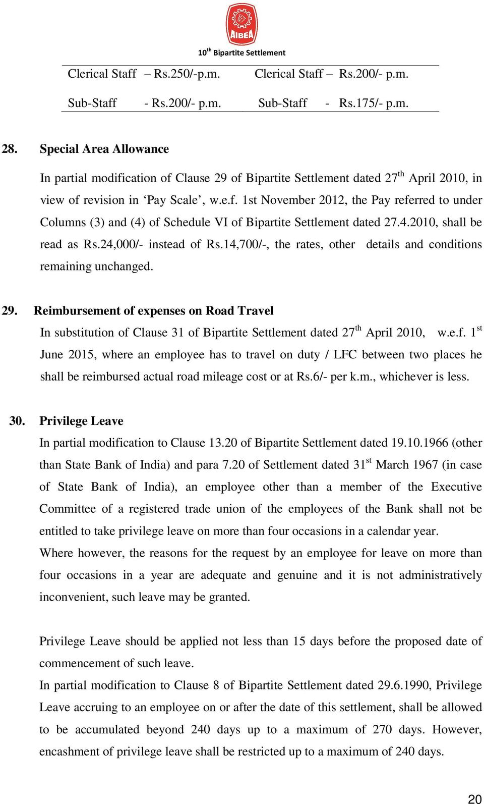 4.2010, shall be read as Rs.24,000/- instead of Rs.14,700/-, the rates, other details and conditions remaining unchanged. 29.