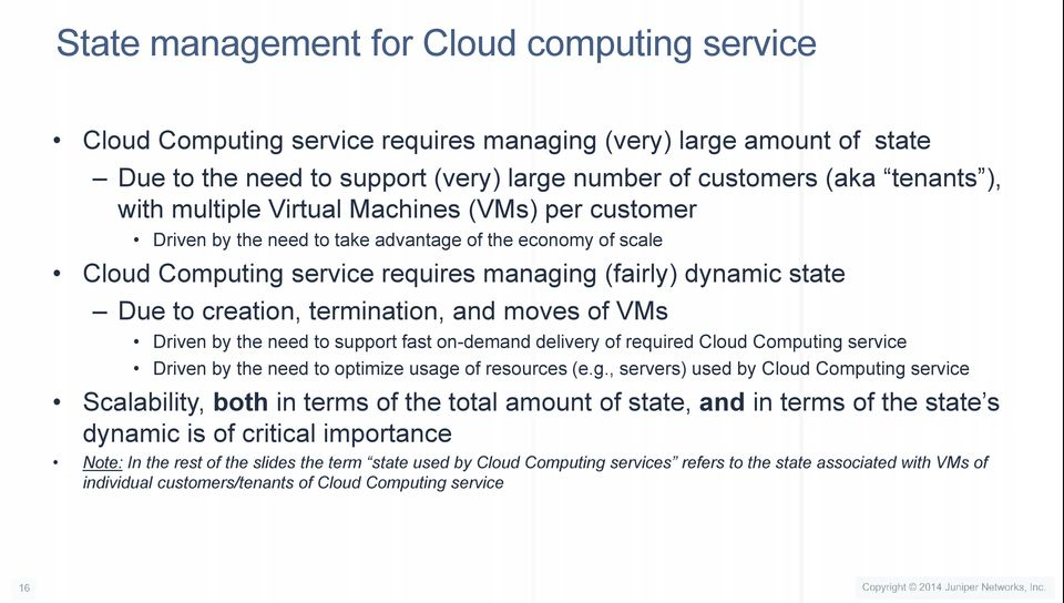 and moves of s Driven by the need to support fast on-demand delivery of required Cloud Computing