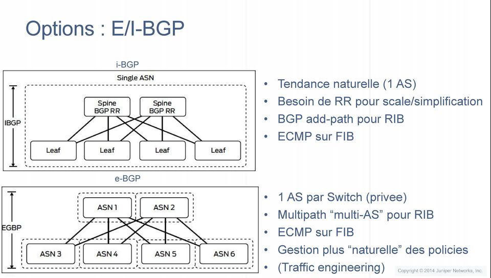 e-bgp 1 AS par Switch (privee) Multipath multi-as pour RIB ECMP