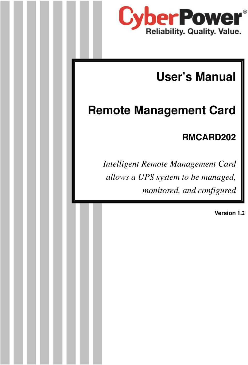 Management Card allows a UPS system to