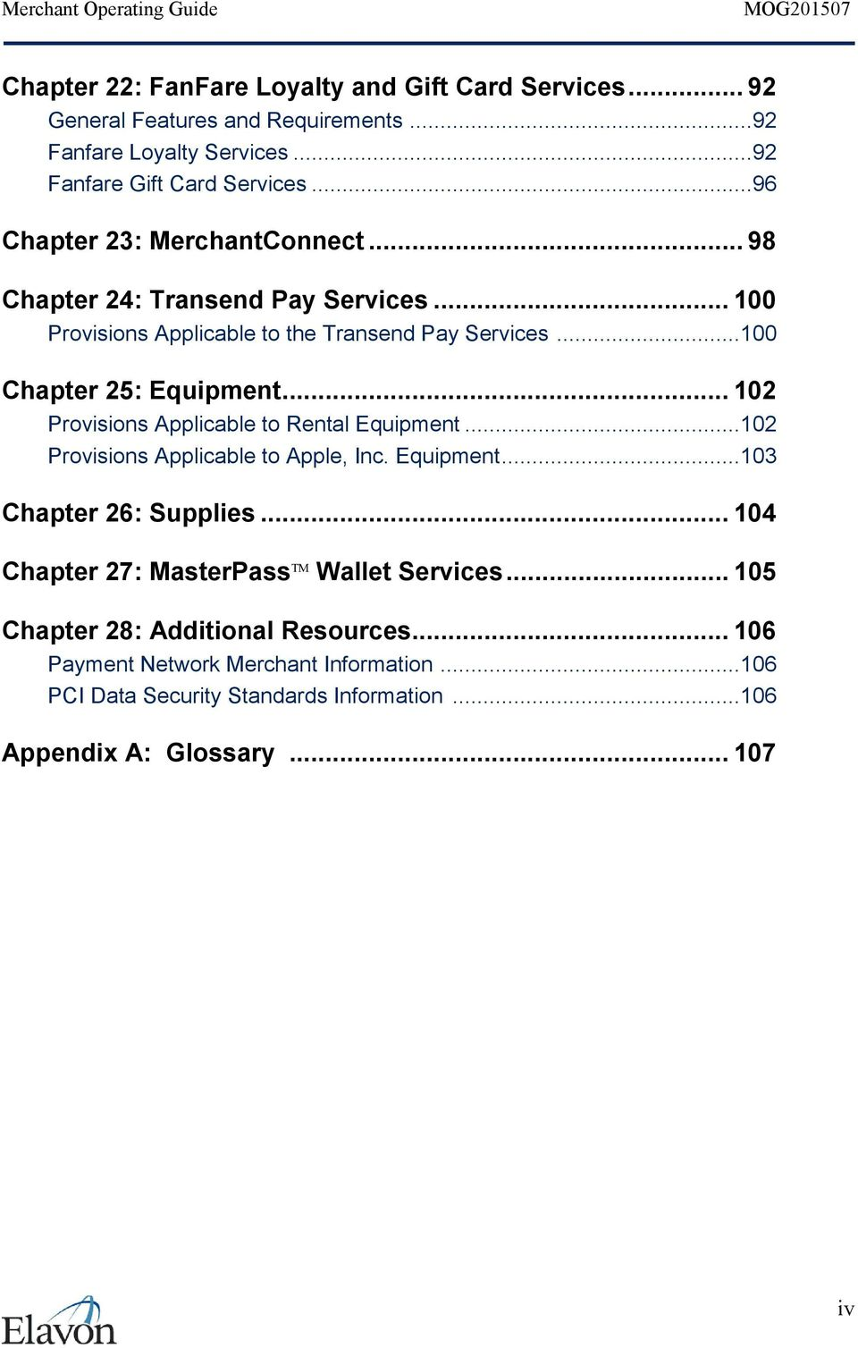 .. 102 Provisions Applicable to Rental Equipment...102 Provisions Applicable to Apple, Inc. Equipment...103 Chapter 26: Supplies.