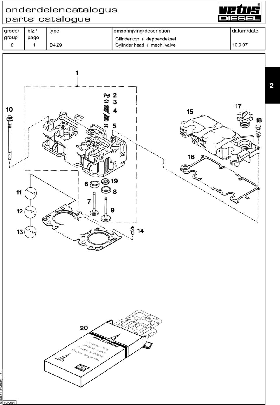 marine diesel engines d 4 29 dt4 29  parts catalogue