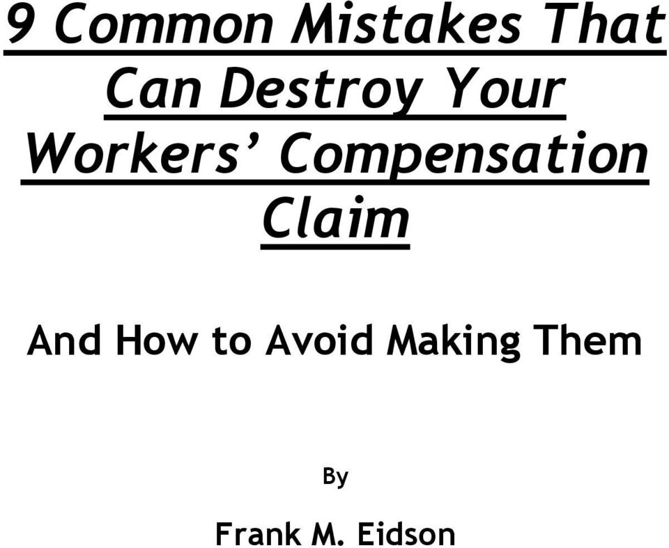 Compensation Claim And How