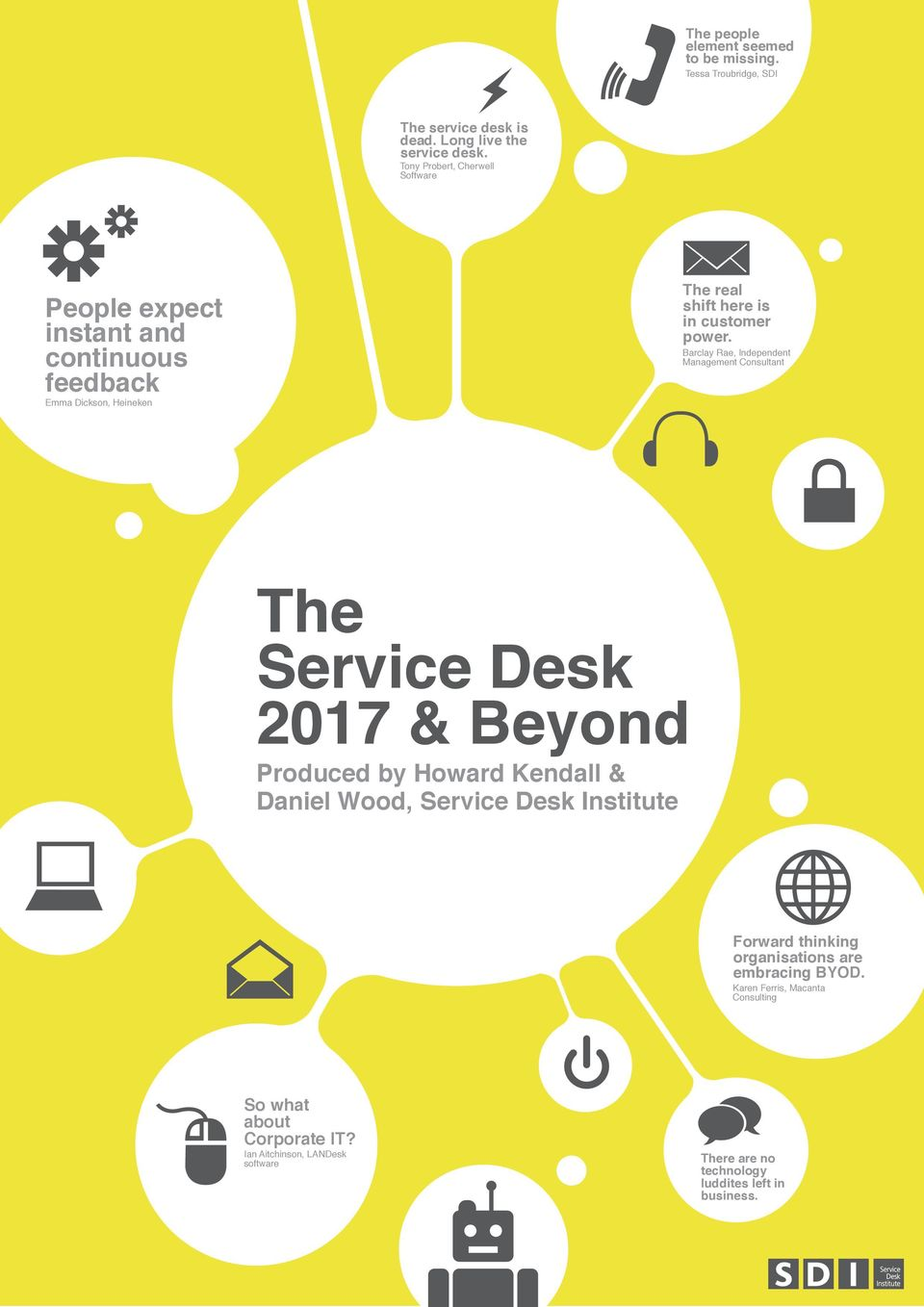 Barclay Rae, Independent Management Consultant The Service Desk 2017 & Beyond Produced by Howard Kendall & Daniel Wood, Service Desk Institute