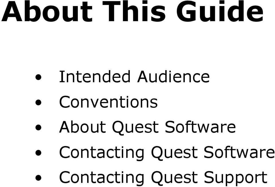 Quest Software Contacting