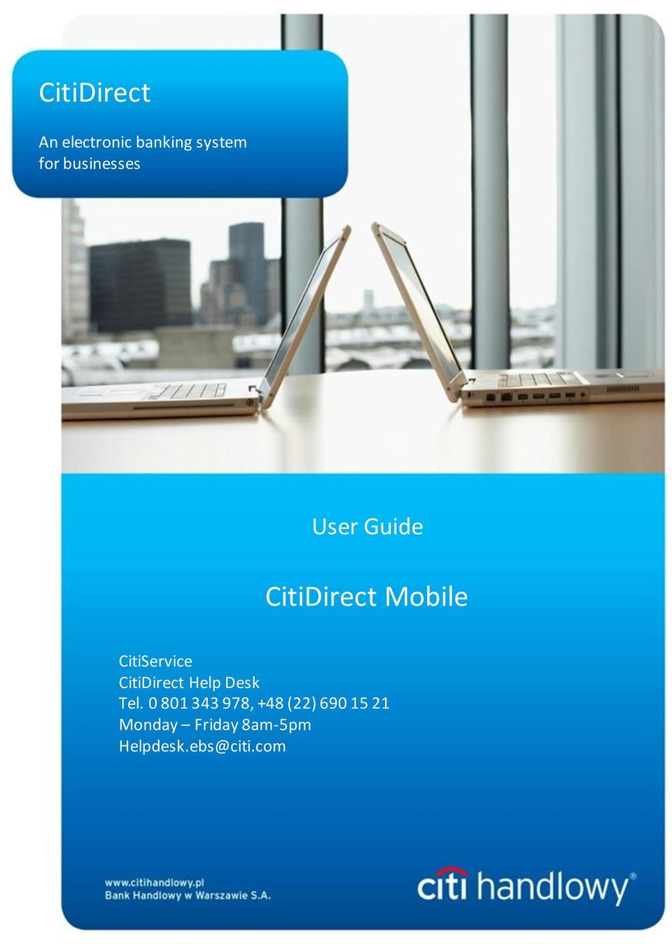 CitiService CitiDirect Help Desk Tel.