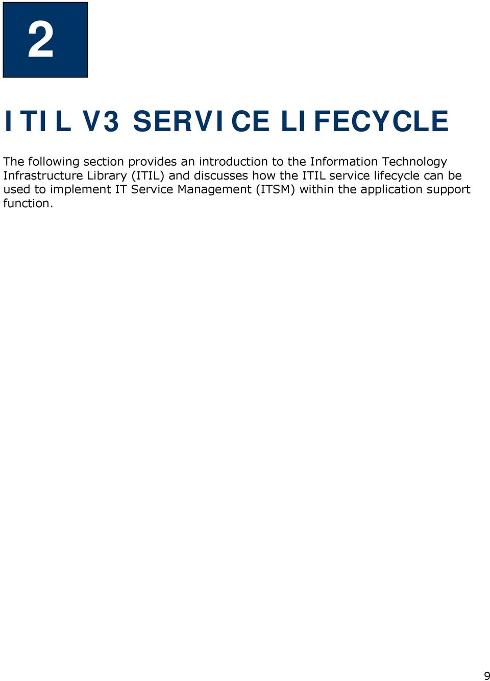 Technology Infrastructure Library (ITIL) and discusses how the ITIL