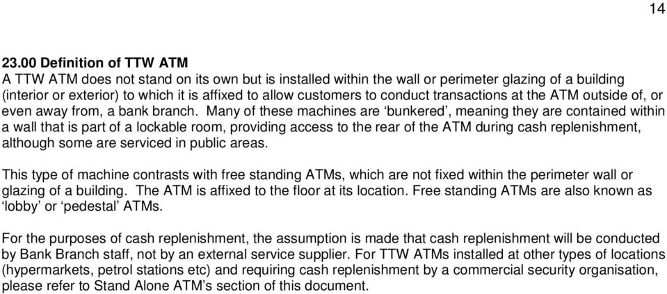 conduct transactions at the ATM outside of, or even away from, a bank branch.