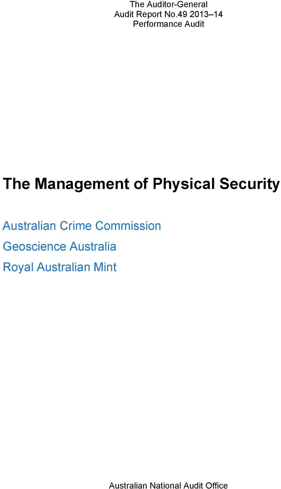 Crime Commission Geoscience Australia